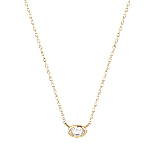 Fancy Solitaire Necklace