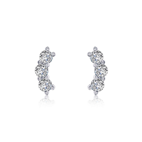 3-Stone Stud Earrings