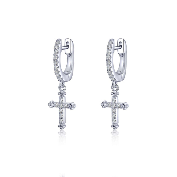 0.32 CTW Cross Earrings