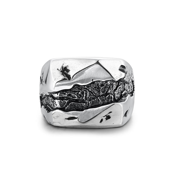 GLACIER | Silver Mountain and River Ring