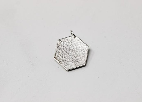Hexagon Hammered Accent Charm