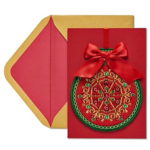 Removable Ornament Christmas Greeting Card