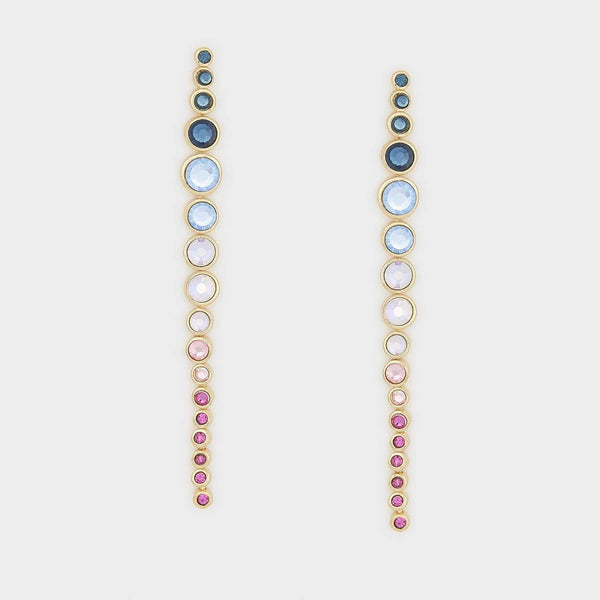 Sylvie Drop Earrings, Mixed Crystal, Gold