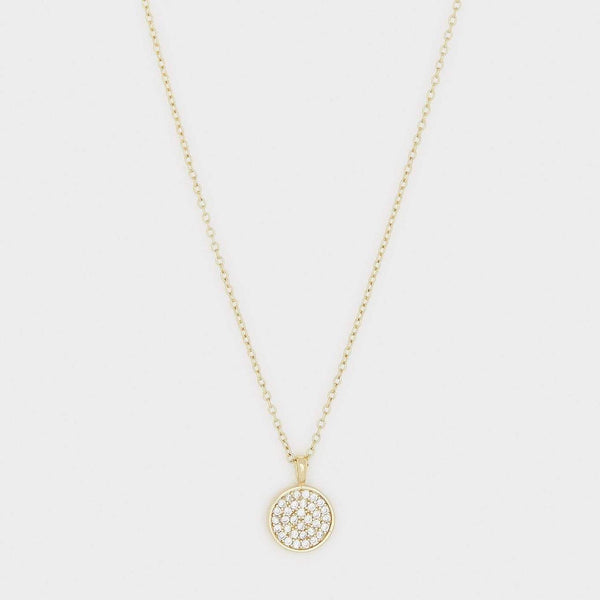 Pristine Charm Necklace, White CZ, Gold