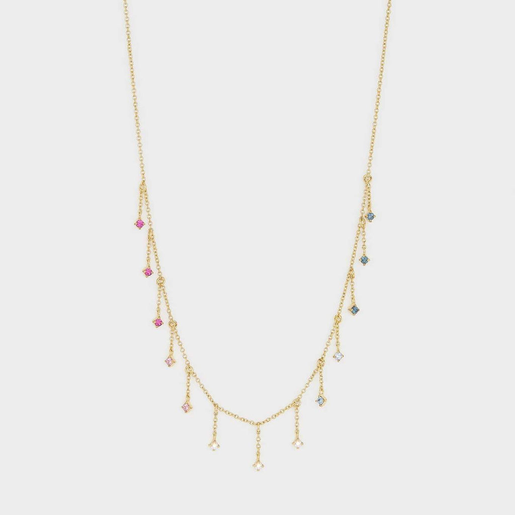 Rosslyn Necklace, Mixed Crystal, Gold
