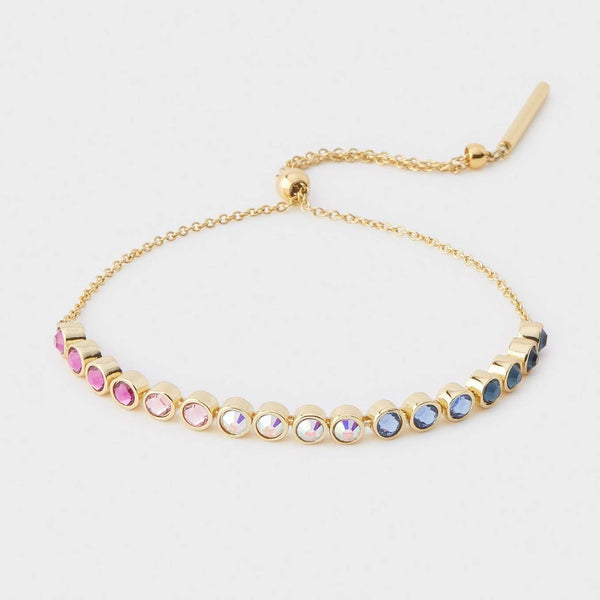 Sylvie Bracelet, Mixed Crystal, Gold