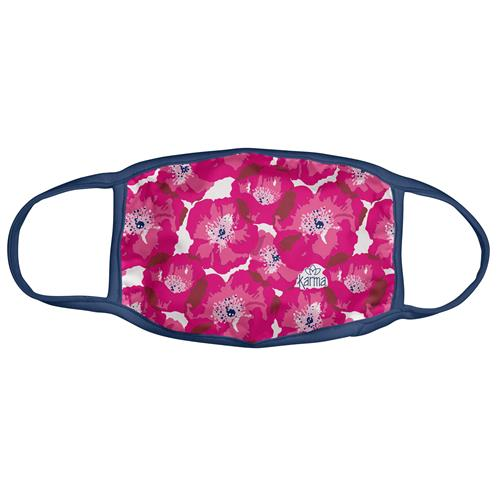 Pink Poppy Face Mask With Zipper Pouch