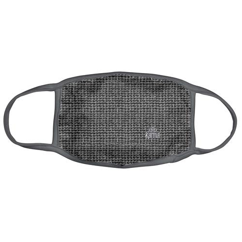 Gray Basket Weave Face Mask with Zipper Pouch