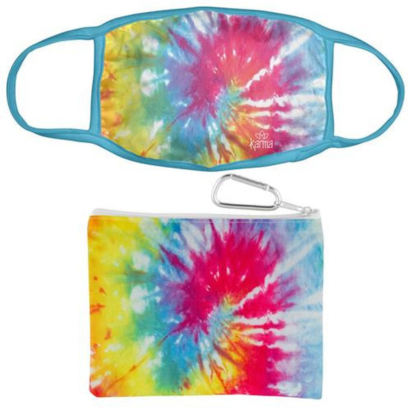 Rainbow Face Mask With Zipper Pouch