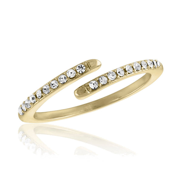 Wrap CZ Gold Layers Ring