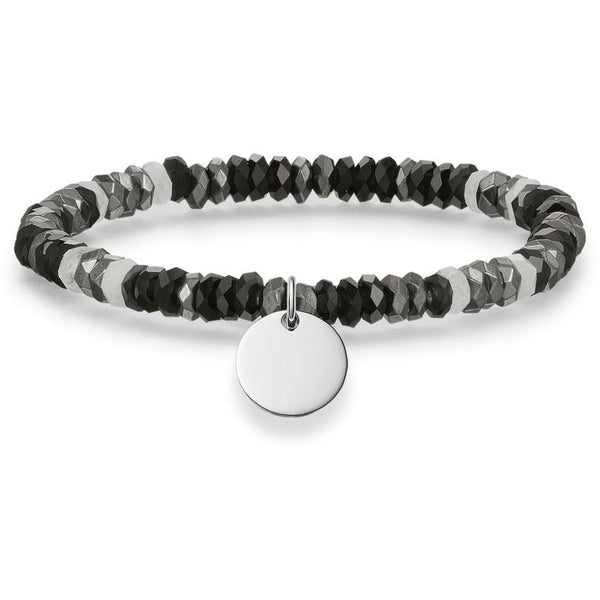 Black/Grey/White Love Bridge Bracelet