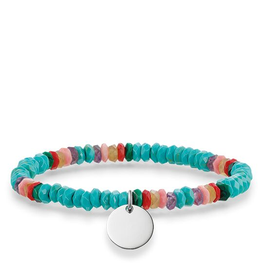 Turquoise/Multi Beaded Stretch Love bridge Bracelet