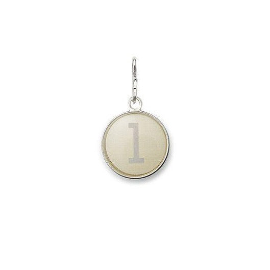 Necklace Charm - Etching Charm, Initial L, Sterling Silver