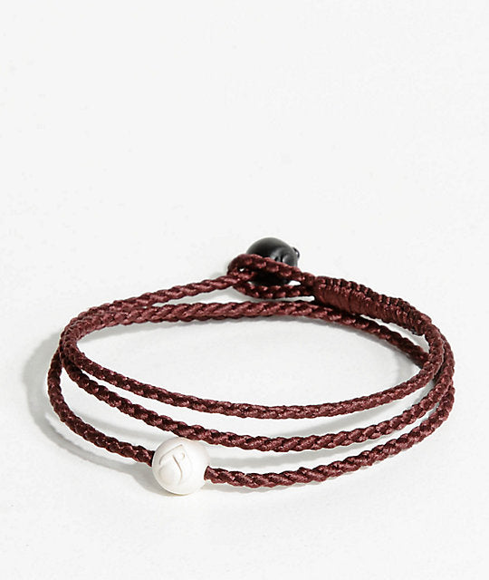 Triple Wrap Bracelet - Burgundy