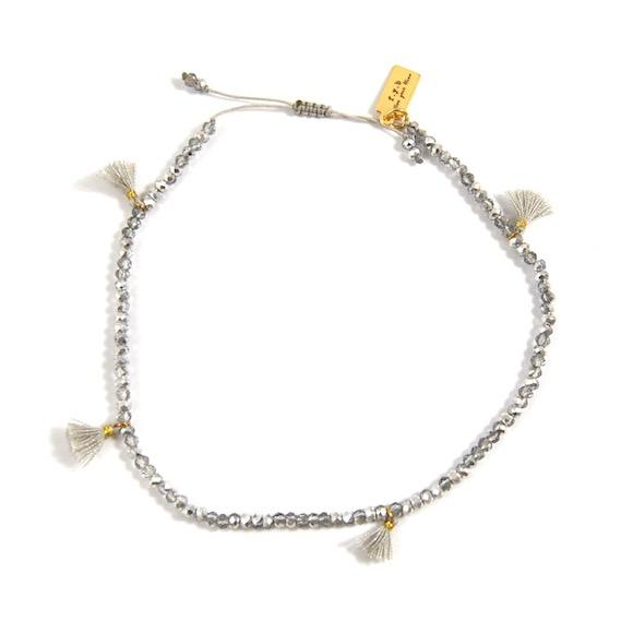 MILLY TASSEL ANKLET GREY