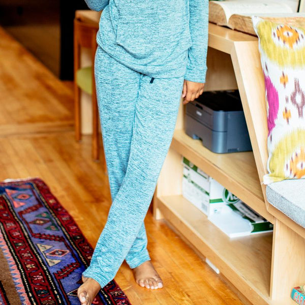 Carefree Threads Drawstring Lounge Pants - Mint