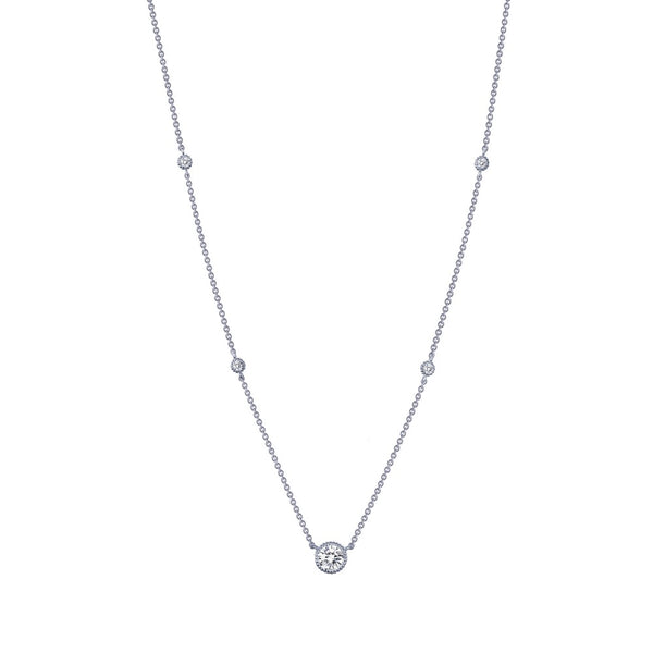 STACKABLES Platinum Simulated Diamond NECKLACES ( CTTW:0.78 | US: 18 )