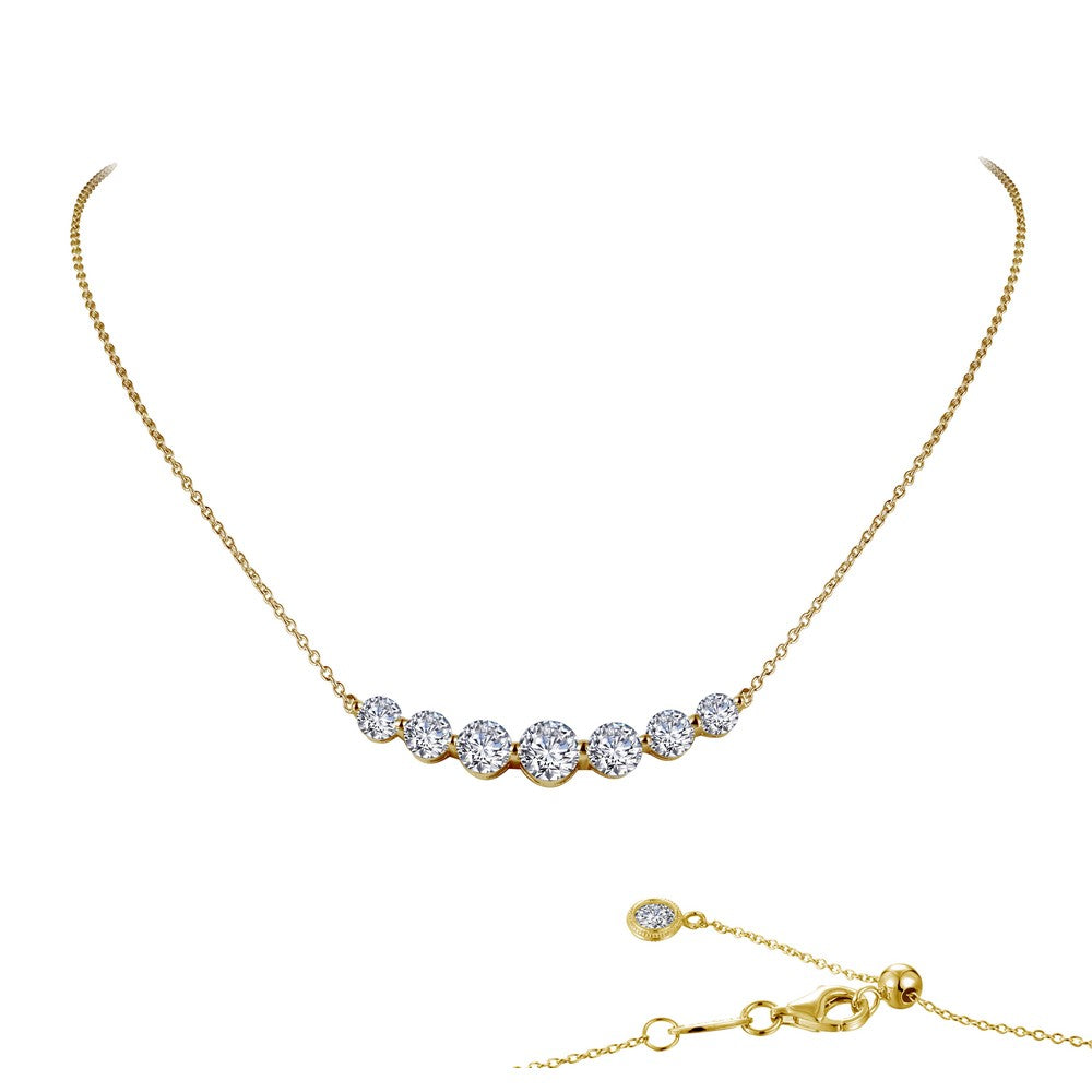 7 SYMBOLS OF JOY Gold Simulated Diamond NECKLACES ( CTTW:2.02 | US: 18 )