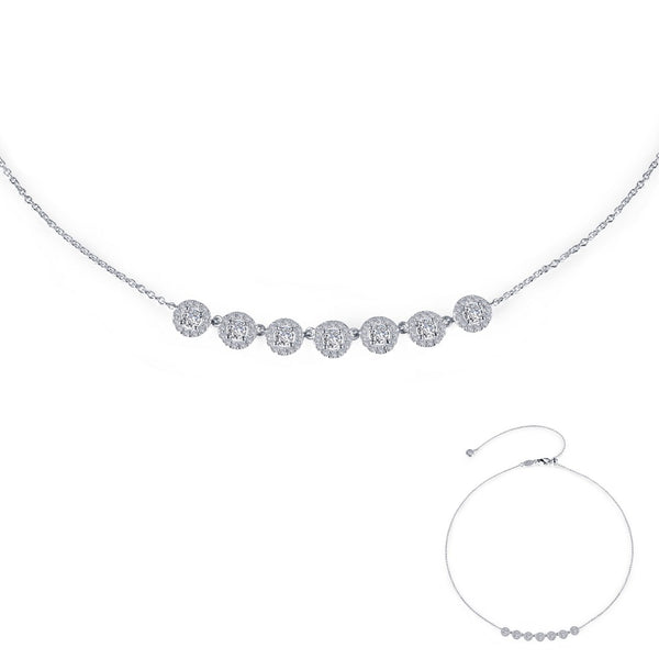 7 SYMBOLS OF JOY Platinum Simulated Diamond NECKLACES ( CTTW:1.44 | US: 18 )