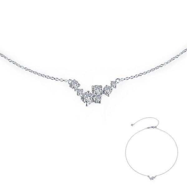 7 SYMBOLS OF JOY Platinum Simulated Diamond NECKLACES ( CTTW:0.98 | US: 18 )