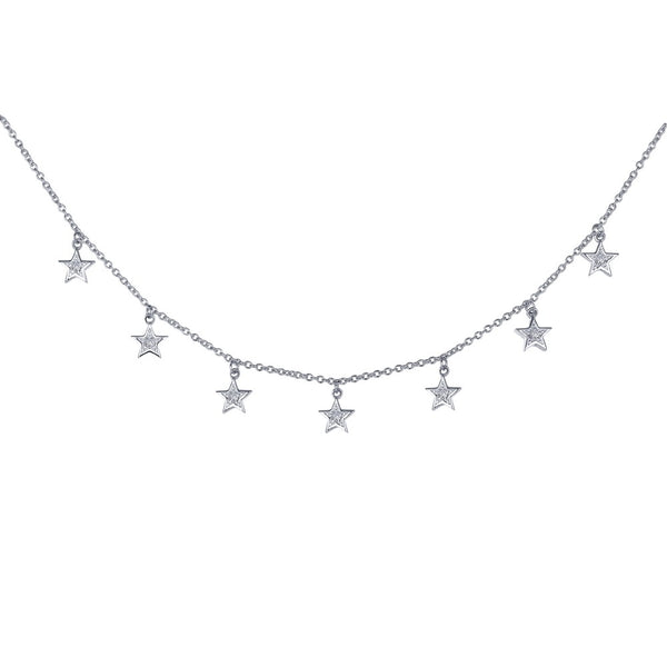 7 SYMBOLS OF JOY Platinum Simulated Diamond NECKLACES ( CTTW:0.32 | US: 18 )