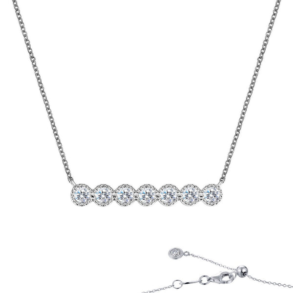 7 SYMBOLS OF JOY Platinum Simulated Diamond NECKLACES ( CTTW:0.6 | US: 20 )