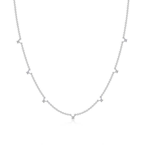 0.46 CTW Station Necklace