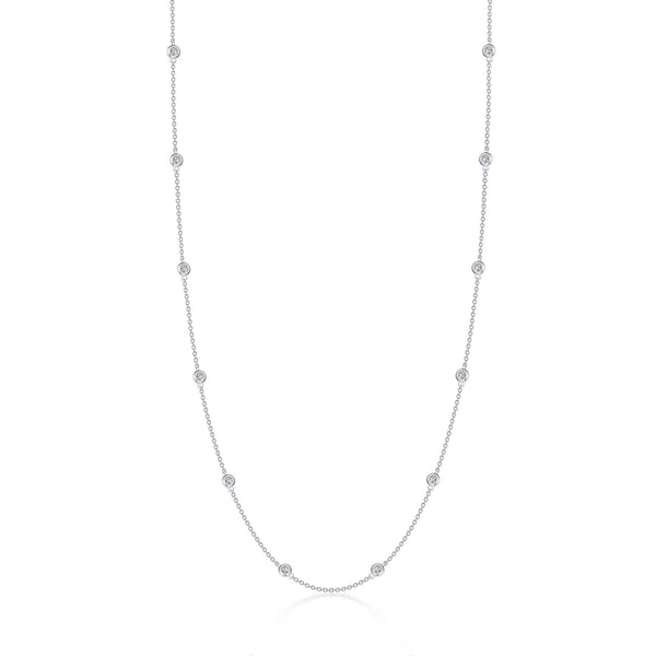 0.73 CTW Station Necklace