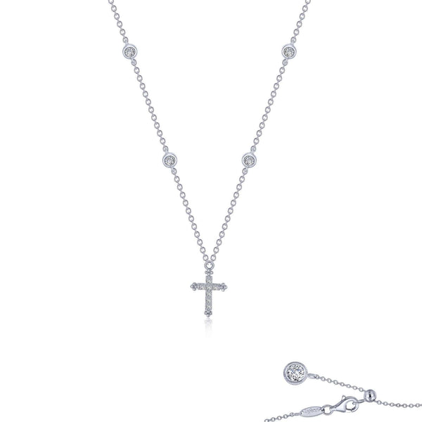 0.41 CTW Cross Necklace