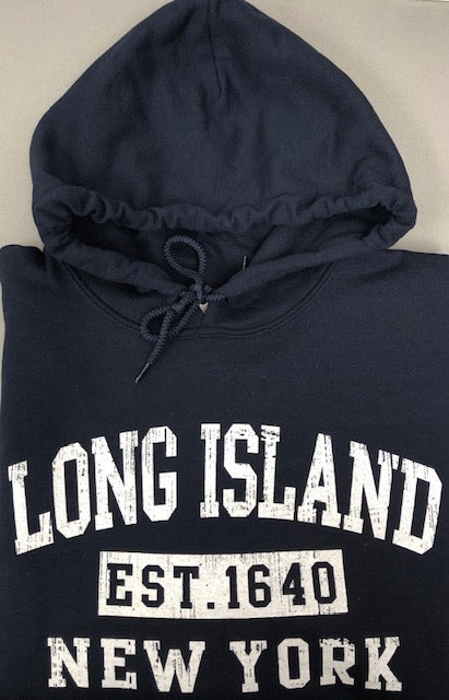 Long Island New York Est. Navy Hoodie