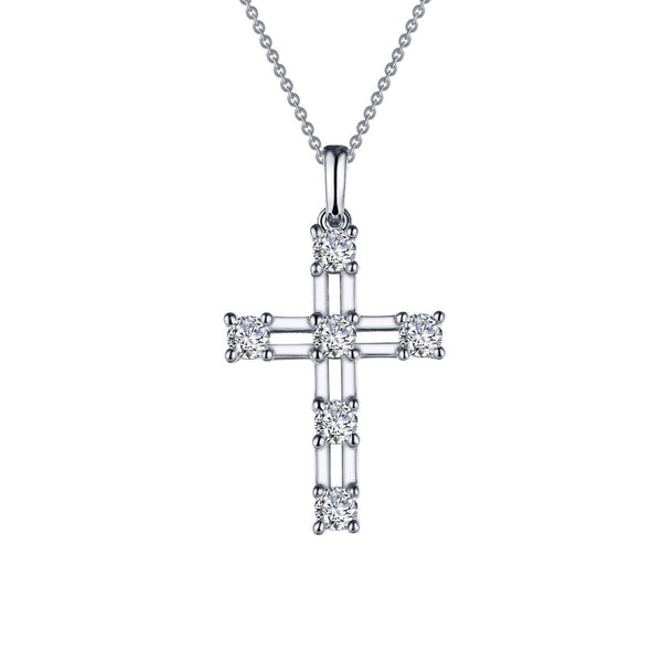CLASSIC Platinum Simulated Diamond NECKLACES ( CTTW:0.66 | US: 18 )