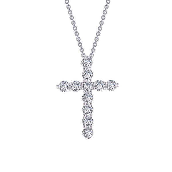 CLASSIC Platinum Simulated Diamond NECKLACES ( CTTW:1.87 | US: 18 )