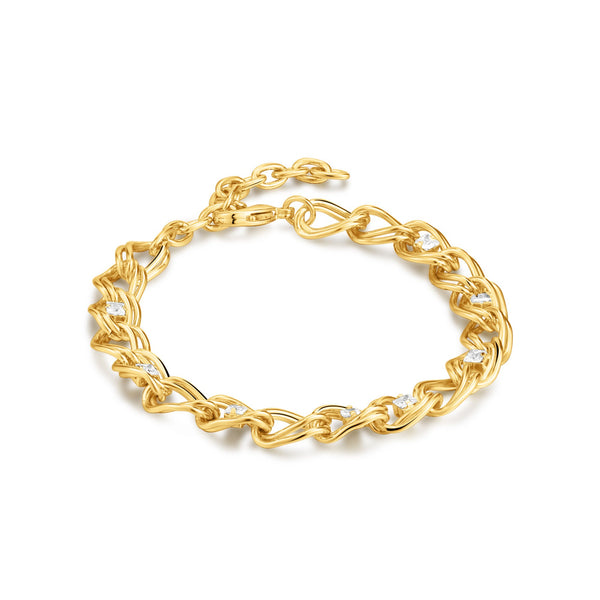 WILLOW | Zircon Studded Chain Link Bracelet