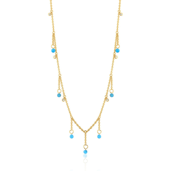 KINDRED | Murano Glass Droplets & Zircon Studded Necklace