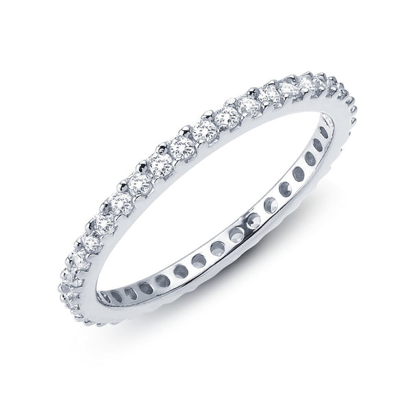 STACKABLES Platinum Simulated Diamond RINGS ( CTTW: 0.57 )