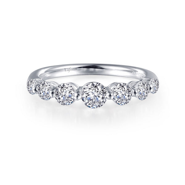 7 SYMBOLS OF JOY Platinum Simulated Diamond RINGS ( CTTW: 0.91 )
