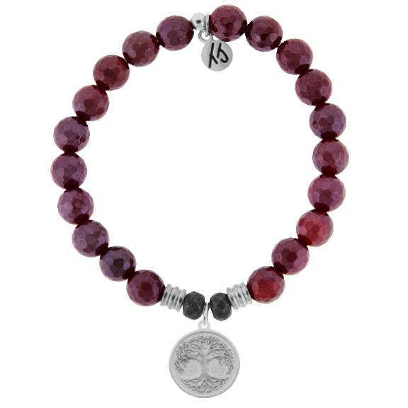 Core Collection,Red Ruby Agate Faceted, Tree of Life
