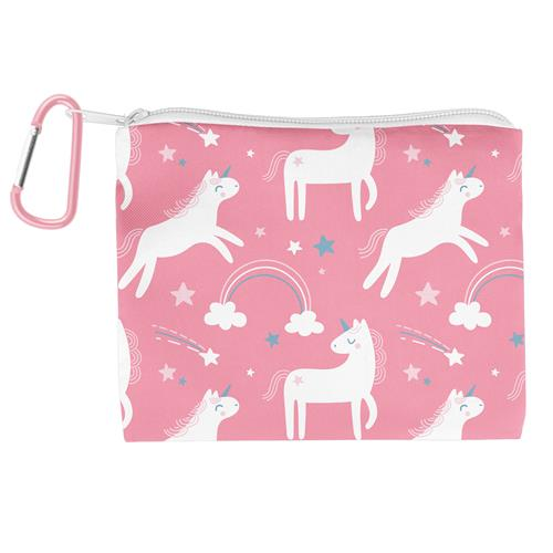 Kids Adjustable Mask With Zipper Pouch - Unicorn Stars