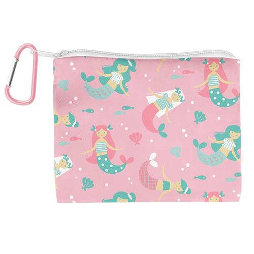 Kids Adjustable Mask With Zipper Pouch - Mermaid