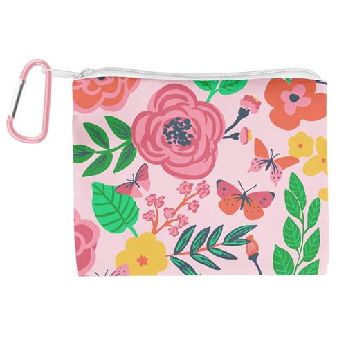 Kids Adjustable Mask With Zipper Pouch - Butterfly
