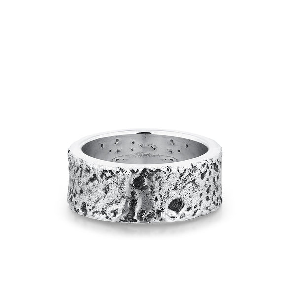 WATER | Silver Ring For Men With Ocean Crater Design