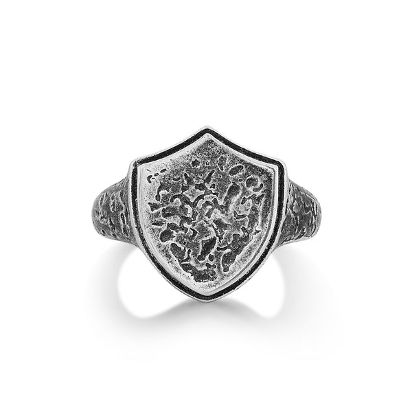 CARRADO | Highly Textured Shield Ring