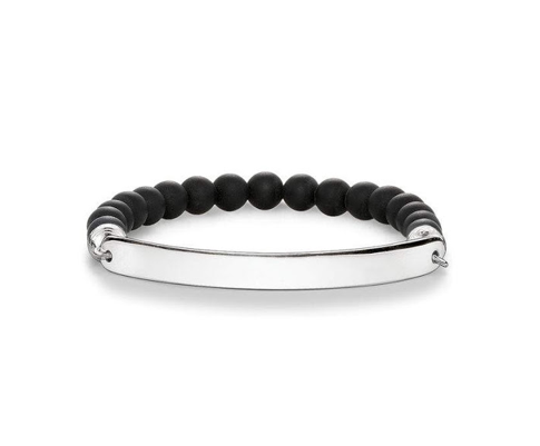Love Bridge Black Matte Stretch Bracelet