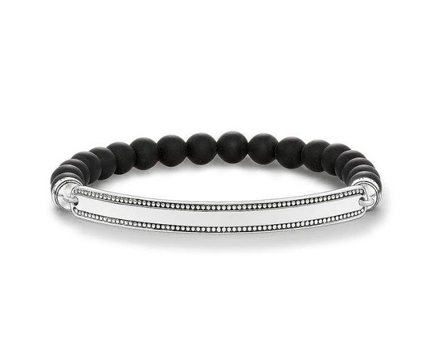 Love Bridge Matte Black Beaded Bracelet