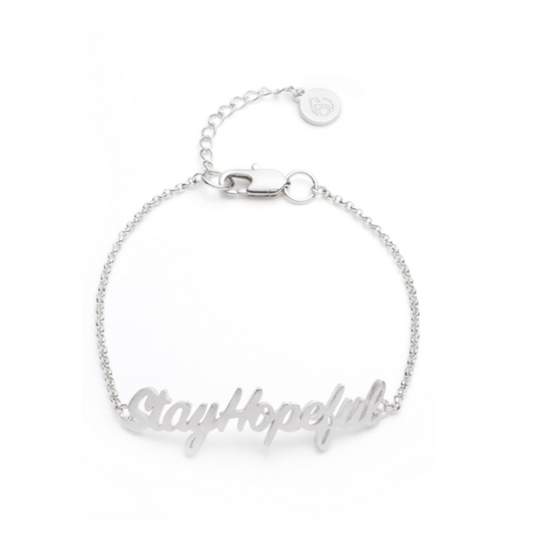 Hopeful ID Bracelet, Silver