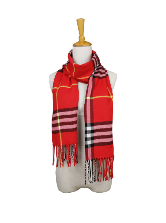 London Berry Plaid Scarf in Red