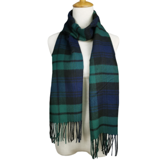 London Berry Plaid Scarf in Green/Blue