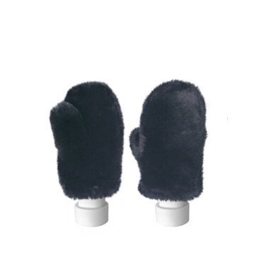 Best of Hollywood Faux Fur Mittens in Black