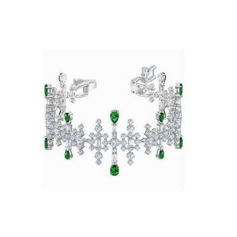 Perfection Bracelet  Green Rhodium Plated