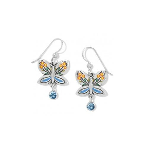 Garden Wings French Wire Earrings